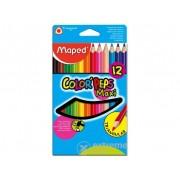 Creioane colorate Maped COLOR`PEPS MAXI 12buc/cutie