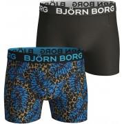 Bjorn Borg Boxershorts 2-Pack Leafs - Schwarz L
