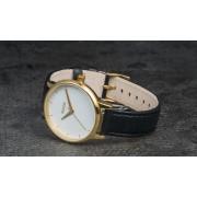 Nixon Kensington Leather Watch Gold/ White/ Black