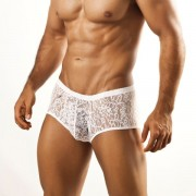 Joe Snyder Bulge Boxer Brief BUL03 Lace White Underwear