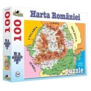Puzzle Harta Romaniei, 100 piese