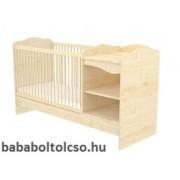 Timba LILI 60x120 cm nyitott kombi gyermekágy juhar