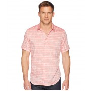 Robert Graham Machado Short Sleeve Woven Shirt Magenta
