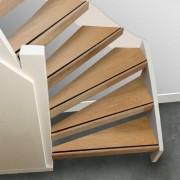 Stepwood Complete traprenovatie Eikenhout 4 mm toplaag Natuur Voor open trappen Incl. antislipstrip