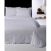 Cuvertură de pat Valentini Bianco din brocard, Fust, culoare alba