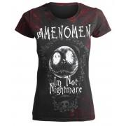 t-shirt hardcore donna - I´M NOT NIGHTMARE - AMENOMEN - OMEN073DA