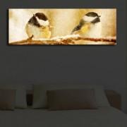 Tablou pe panza iluminat Shining, 239SHN1223, 30 x 90 cm, panza