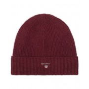 GANT Cotton Wool Lined Beanie Purple Wine