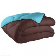 Couette bicolore coton 220x240 cm 570 gr/m² chocolat turquoise