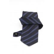 Cravata bleumarin cu dungi albastre si negre - NOU!