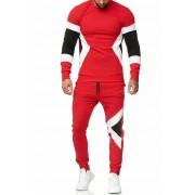 OneRedox Jogging Suit Sport Set Tracksuit Pants & Sweater Red 1215C 52009-3