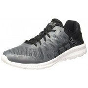 Fila Men's Memory Finity Castle Rocket, Black and Metallic Silver Running Shoes - 6 UK/India (40 EU)