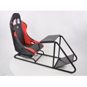 FK-Automotive siège de jeu pour PC et consoles de jeu en cuir synthétique noir / rouge