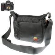 Digitális fényképezőgép táska - 19x15x8 cm - FEKETE