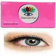 Diamond eye yearly dark blue disposable color contact lens