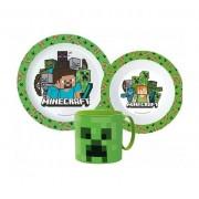 Minecraft étkészlet micro szett bögrével Creeper