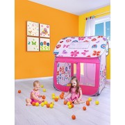 SUGAR Q Breathable Extra Large Portable Folding Pop-Up Flowers Butterfly Play Tent Playhouse Play Hut Ball Pit Pool Toy,Kids Girls/Boy Birthday Party Indoor/Outdoor Non-Toxic/Odor-Free