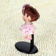 Alcoa Prime 2Pcs Adjustable Metal Doll Stand 4-5inch for Barbie Dolls Teddy Bears Black