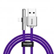 Baseus Mobile Game Elbow Cable USB Lightning nylon zsinór 2.4a 1m lila (CAL7C - A05)