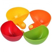 Tagve Multi-Purpose 4 Pcs dip Clip Bowl Universal Bowls Clip Bowl Plastic Bowl Set (Multi Color)
