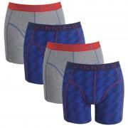 Vinnie-G boxershorts Flame Blue Print Grey 4-pack L