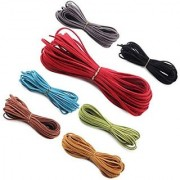 DIY Crafts Micro-Fiber Flat Lace Beading Thread Faux Suede Cord for Beading and Craft (10 Yards) (Pack of 10)