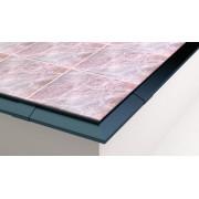 CE102 Profil aluminiowy balkonowy 2.0m brązowy RAL 8019 - listwa balkonowa okapnikowa brązowa