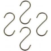 12 x haken S-vormig metaal ca. 9 cm, S-haken, S-vormige haken, metalen haken, vleeshaken
