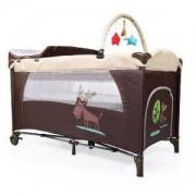 Бебешка кошара за спане и игра Cangaroo Happy Baby, бежова, 3560094