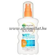 Garnier Ambre Solaire Wet Skin naptej pumpás SPF 30 200ml
