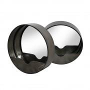 RedCartel Duomo - 2 miroirs ronds en métal