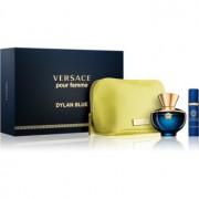 Versace Dylan Blue Pour Femme set cadou II. Eau de Parfum 100 ml + Eau de Parfum 10 ml + geantă