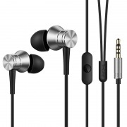 1MORE E1009 Piston In-ear 3.5mm Headphone with Remote and Mic for Xiaomi iPhone Samsung etc - Silver Color