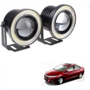 Auto Addict 3.5 High Power Led Projector Fog Light Cob with White Angel Eye Ring 15W Set of 2 For Honda Idtec (2010-2014)