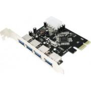 Adaptor Logilink PCI-Express la 4 x USB 3.0 PC0057