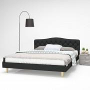 vidaXL Двойно легло с матрак от мемори пяна, 160x200 cм, тъмносиво