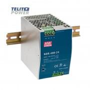 480W Industrijsko napajanje na DIN ini NDR-480-24 MEAN WELL
