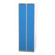 Šatní skříň š 600 mm - šedo/modrá