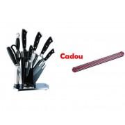 Set Cutite inox 8 piese Cadou Suport Magnetic