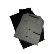 Edvin propínací pyžamo - dlouhé AH8804 M šedá