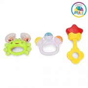 Smiles Creation™ Infant Rattle Set - 3 Rattles Toy for Kids