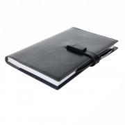 Agenda A5 cu memorie usb 8 GB si pix stylus, Everestus, EE, pu, hartie, negru, lupa de citit inclusa