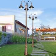 LIBERTI LAMP linea GARDEN Dione Nero Palo Lampione Classico In Alluminio Per Esterni Giardino