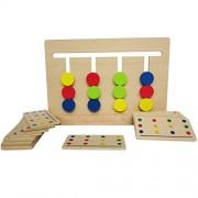 Montessori Toy Game Fun Game Slide Four-color Montessori Frame Rail Sliding Logic Puzzle Toys