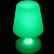Veioza LED iluminata integral RGBW telecomanda 4 moduri iluminare 25 cm