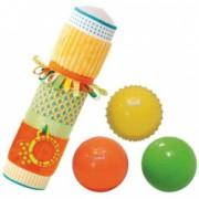 Set jucarii senzoriale tub + 3 mingi pentru dezvoltarea simturilor tactile si vizuale Ludi