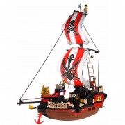 Sluban piratenschip groot bouw speelset