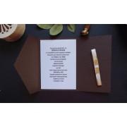 Invitatie nunta carton imitatie piele OPIS048
