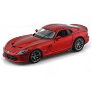 2013 Dodge Viper SRT GTS 1/24 Metallic Red - Maisto Diecast Models
