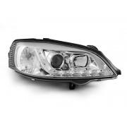 Přední světla, lampy Opel Astra G 98-08 Day light chromová